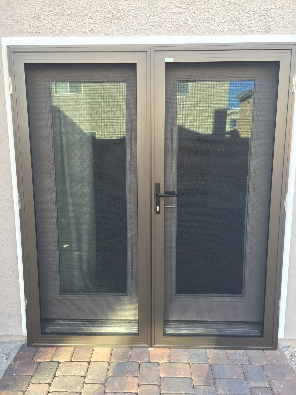 security screen door for double french doors link to security screens page